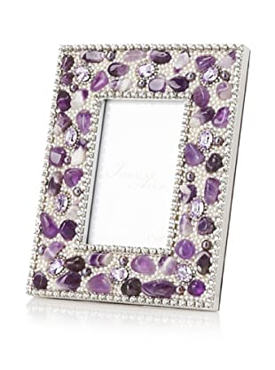 Isabella Adams Gemstone and Swarovski Crystal Picture Frame, Violet, 4