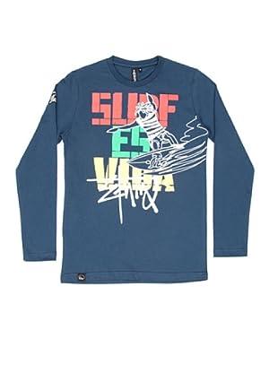 El Niño Camiseta Manga Larga Vida (azul marino)