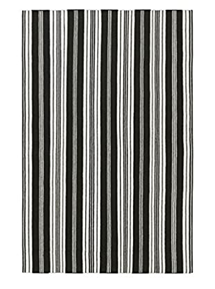 Surya Farmhouse Stripes Rug, Black/Ivory, 5' x 8'