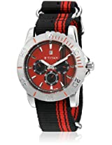 Octane 9490SP02J Black/Red Analog Watch