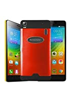 Majesty Glossy Mettalic Back Case Cover forLenovo K3 Note - Red