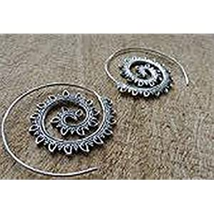 The Desi Soul Gypsy Spiral Leaf Earrings
