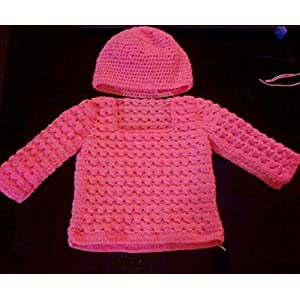 HighKnit All-In-Pink Baby Sweater And Cap