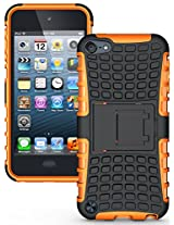 Heartly Flip Kick Stand Hard Dual Armor Hybrid Bumper Back Case Cover For Apple iPod Touch 5 5th Generation - Orange