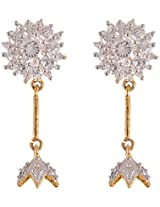 Glitz And You Pearl Gold Dangle & Drop Earring For Women (SSDGAY905)