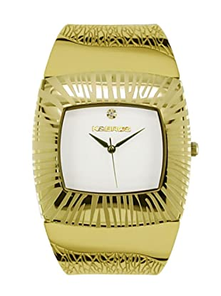 K&BROS 9164-4 / Reloj de Señora  con brazalete metálico dorado