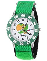 "Disney Kids' W000382 ""Time Teacher"" Jake and the Neverland Pirates Stainless Steel Watch With Green Nylon Band"