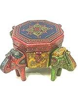 Elegant Elephant Wooden Jewellery Box