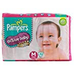 Pampers Active Baby Diapers Jumbo Pack Medium - 62Pcs (6 - 11 Kgs)