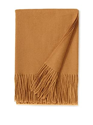 a & R Cashmere Wool & Cashmere Waterweave Throw, Camel, 50