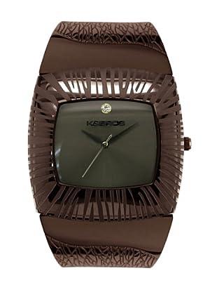K&BROS 9164-3 / Reloj de Señora con brazalete metálico marrón