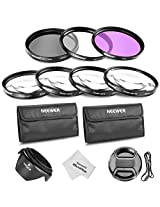 Neewer®49MM Professional Lens Filter and Close-up Macro Accessory Kit for SONY Alpha A3000 DSLR and NEX Series (NEX-3 NEX-5N NEX-7 NEX-F3) Cameras with 18-55mm and 55-210mm Lenses- Includes Filter Kit (UV, CPL, FLD) + Macro Close-Up Set (+1, +2, +4, +10)+ Filter Carrying Pouch + Tulip Flower Lens Hood + Center Pinch Lens Cap with Cap Keeper Leash + Microfiber Cleaning Cloth