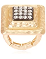 Bansri Enamel Ring for Women (Golden) (R0041 GLD - J7)