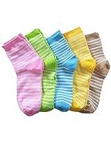 69th Avenue Unisex Cotton Socks (Multi-Coloured) - Set of 5