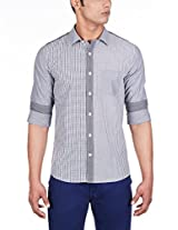 United Colors of Benetton Men's Casual Shirt (8903975014701_15A5AC25U008I901L_Large_Grey )