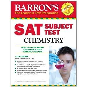SAT Subject Test Chemistry (Barron's Sat Subject Test Chemistry)