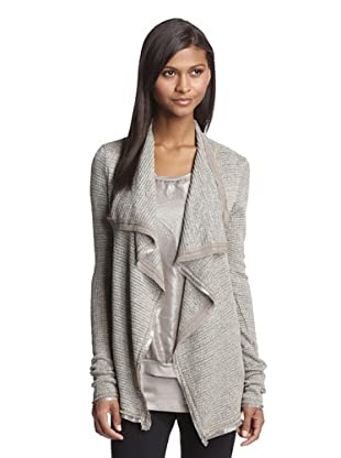 LoLa & Sophie Women's Sweater Club Open Front Blazer/Sweater (Taupe)