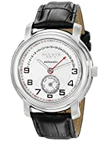 Akribos XXIV Men's AK547SS Automatic Retrograde Date Leather Strap Watch