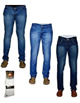 Sam Jazz Combo Of 3 Men Jeans With 1 Pair Of Socks 3CM S J 4