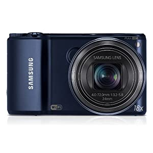 Samsung WB250F 14MP CMOS Smart WiFi Digital Camera with 18x Optical Zoom and 3.0-inch HVGA Touchscreen (Black), 4GB Card, Camera Case