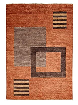 Darya Rugs Modern Oriental Rug, Burnt Orange, 4' 8