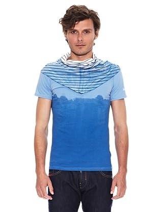 Desigual Camiseta Cuello Rep (Azul)