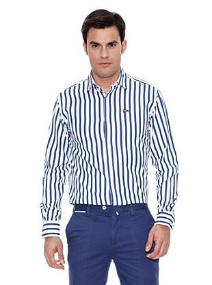 Pedro del Hierro Camisa Non Iron Sport Raya Bicolor (Azul Marino)