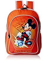Mickey School Bag Football Story, Multi Color (14-inch)