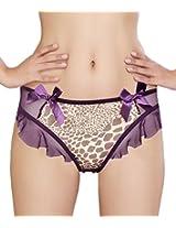 Glus Bables Frill Thong ,Size-Medium (Purple)