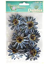 FLORAL BLOOMIN 2.25`` DAISIES X 6 2 TONE W/WIRE STEM DES-2 FA102 1PC MC