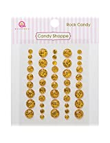 Queen & Co Candy Shoppe Self-Adhesive Rock Candy Dots Embellishments, 4, 6 and 8mm, Yellow