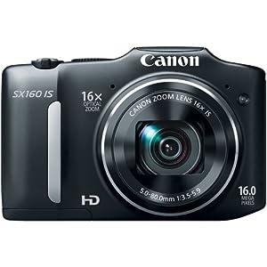 Canon PowerShot SX160 IS 16.0 MP Camera-Black