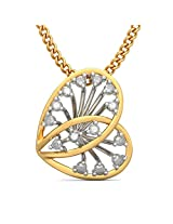 BlueStone Bloom Collection 18k Yellow Gold and Diamond Alette Pendant