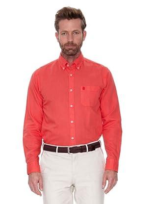 Cortefiel Camisa Lino Ppt (Rojo)