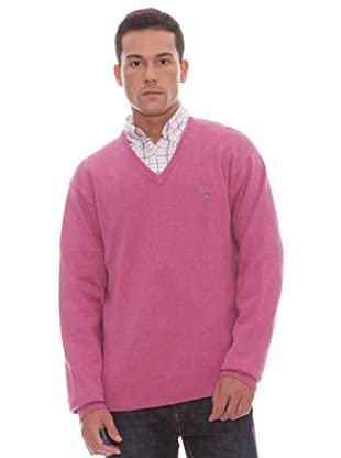 Gant Jersey Liso Pico (burdeos)