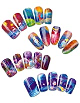 Impasto Patterns Water Nail Tattoo Transfers, Set of 4