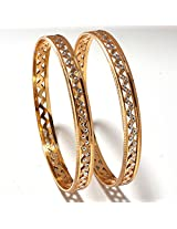 AD bangles gold look high quality Gold plated handmade real bangles 5137