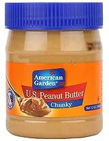 American Garden U.S. Peanut Butter Chunky, 340g