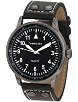 Vernier Women's VNR1077BK Easy Read Polyurethane Strap Quartz Watch