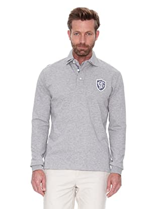 Cortefiel Polo Rugby Doble Cuello (Gris)