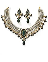 Xcite Beautiful Green American Diamond Necklace Set for Women XNS100