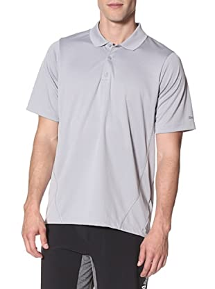 Reebok Men's Play Dry Polyester Polo Tee (Tin Grey)
