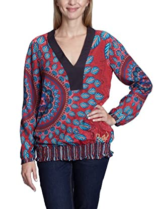Desigual Blusa, 27B2360 (Rojo)