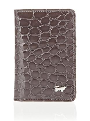 Braun Büffel Kreditkartenetui Glanzkroko (Grau)