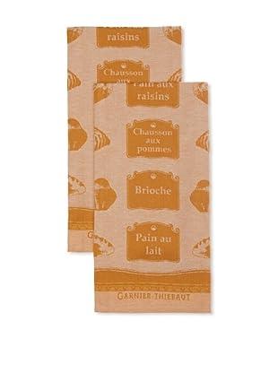 Garnier-Thiebaut Set of 2 Viennoiserie Brioche Kitchen Towels