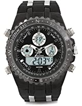 Maxima Fiber  Analog-Digital Black Dial Men's Watch - 32680PAAN
