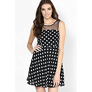 Darling Dots Black Skater Dress