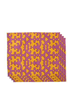 Couleur Nature Set of 4 Key Placemats, Purple/Gold