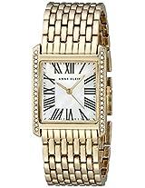 Anne Klein Womens AK/2000MPGB Swarovski Crystal Accented Rectangular Gold-Tone Bracelet Watch