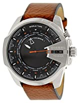 Diesel Black Leather Analog Men Watch DZ4321